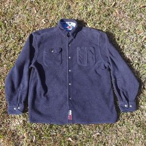 Vintage 90's Tommy Hilfiger Fleece Button Sweater